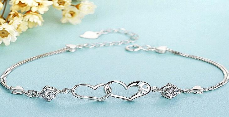 مدل دستبند زنانه با طرح قلب